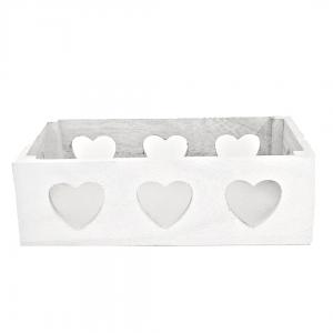 Caja corazones blanca